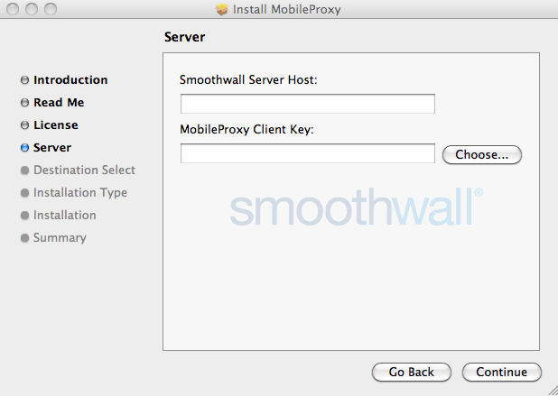 Smoothwall: Connect Filter for Mac OS