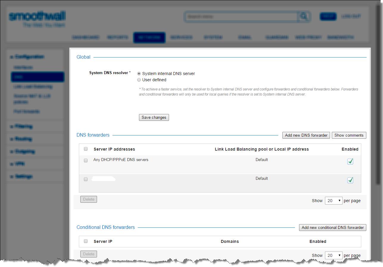 Smoothwall: DNS Services